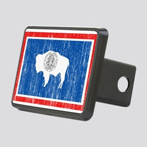 Wyoming Flag Rectangular Hitch Cover