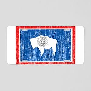 Wyoming Flag Aluminum License Plate