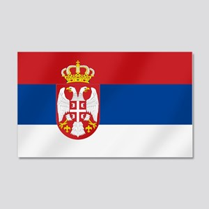 Flag of Serbia 20x12 Wall Decal