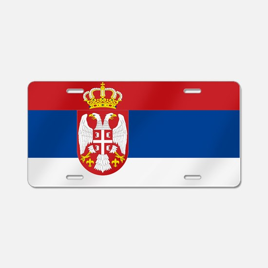 Flag of Serbia Aluminum License Plate