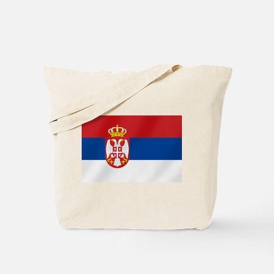 Flag of Serbia Tote Bag
