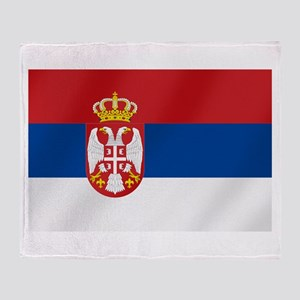 Flag of Serbia Throw Blanket