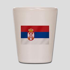 Flag of Serbia Shot Glass