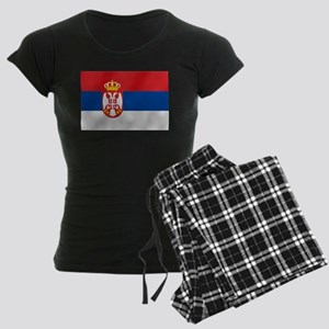 Flag of Serbia Women's Dark Pajamas
