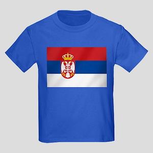 Flag of Serbia Kids Dark T-Shirt