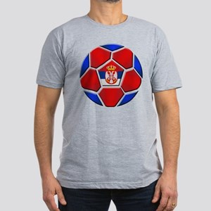 Serbia Football Men's Fitted T-Shirt (dark)