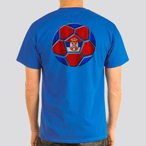 Serbia Football Dark T-Shirt