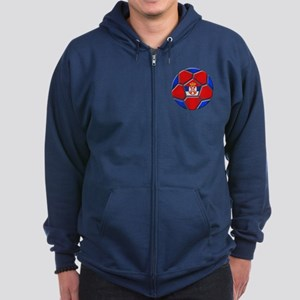 Serbia Football Zip Hoodie (dark)