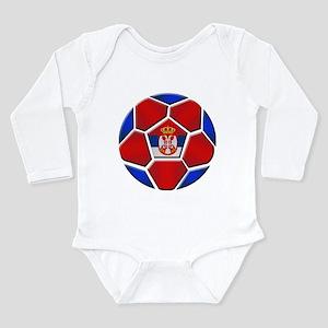 Serbia Football Long Sleeve Infant Bodysuit