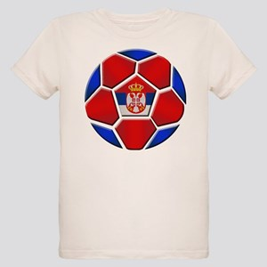 Serbia Football Organic Kids T-Shirt