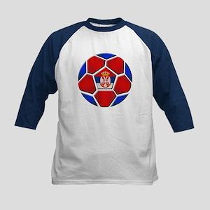 Serbia Football Kids Baseball Jersey