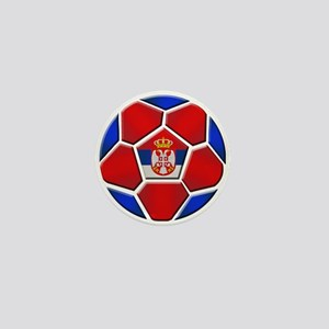 Serbia Football Mini Button