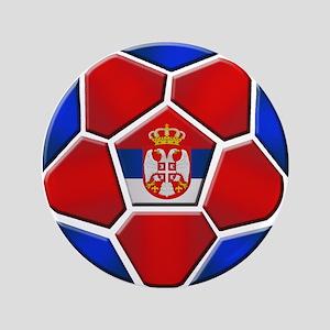 "Serbia Football 3.5"" Button"