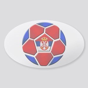 Serbia Football Sticker (Oval)