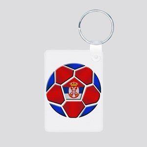 Serbia Football Aluminum Photo Keychain