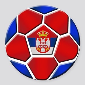 Serbia Football Round Car Magnet