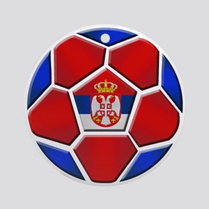 Serbia Football Ornament (Round)
