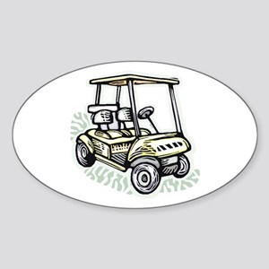 Golf34 Oval Sticker