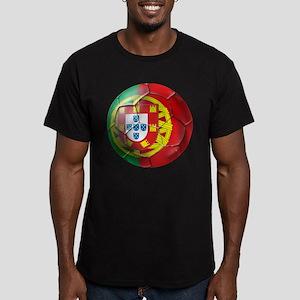 Portuguese Soccer Ball Men's Fitted T-Shirt (dark)