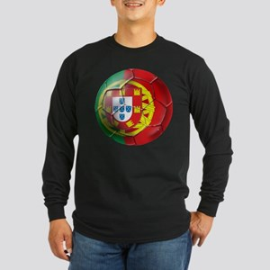 Portuguese Soccer Ball Long Sleeve Dark T-Shirt