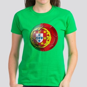 Portuguese Soccer Ball Women's Dark T-Shirt