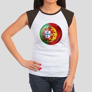 Portuguese Soccer Ball Women's Cap Sleeve T-Shirt