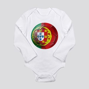 Portuguese Soccer Ball Long Sleeve Infant Bodysuit