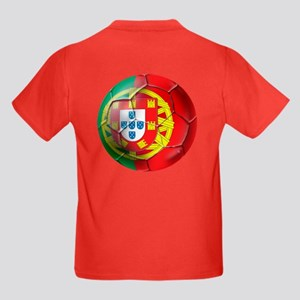 Portuguese Soccer Ball Kids Dark T-Shirt