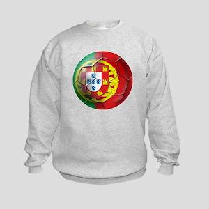 Portuguese Soccer Ball Kids Sweatshirt