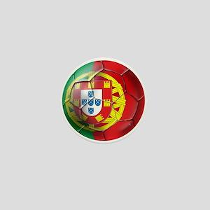 Portuguese Soccer Ball Mini Button