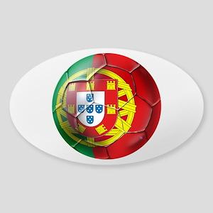 Portuguese Soccer Ball Sticker (Oval)