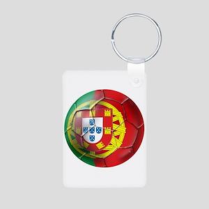 Portuguese Soccer Ball Aluminum Photo Keychain