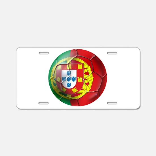 Portuguese Soccer Ball Aluminum License Plate