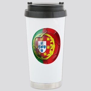 Portuguese Soccer Ball Stainless Steel Travel Mug