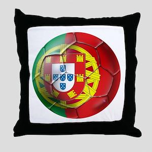 Portuguese Soccer Ball Throw Pillow