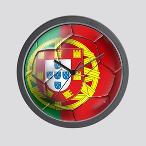 Portuguese Soccer Ball Wall Clock