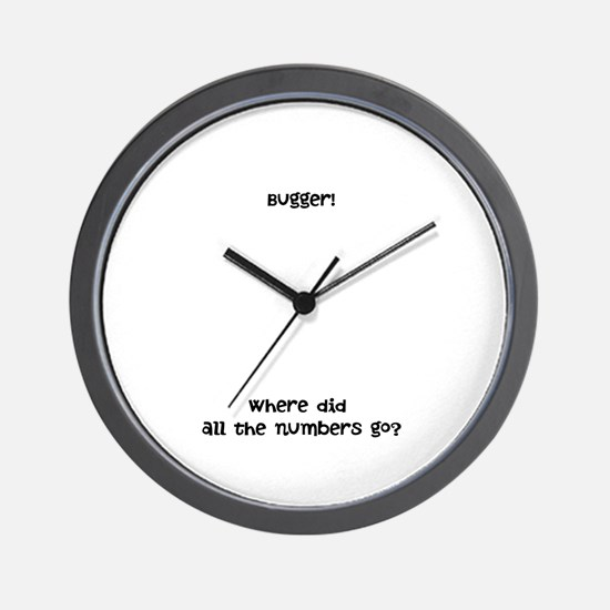Bugger - Where did all the numbers go? Wall Clock