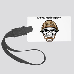 Video Zombie Large Luggage Tag