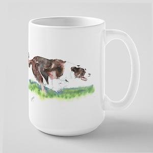 Lets Race- Border Collie Large Mug