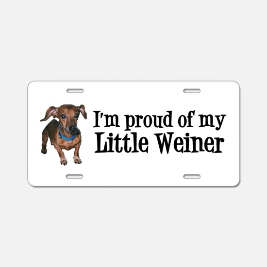 Funny Weiners Aluminum License Plate