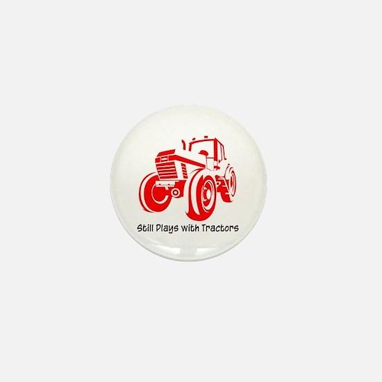 Red Tractor Mini Button