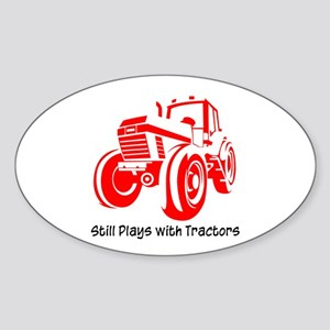 Red Tractor Oval Sticker