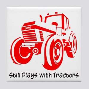 Red Tractor Tile Coaster
