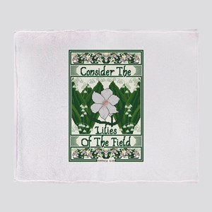 Consider The Lilies Throw Blanket