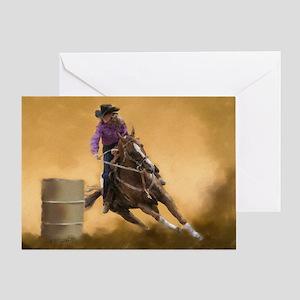 Barrel Racing Greeting Card