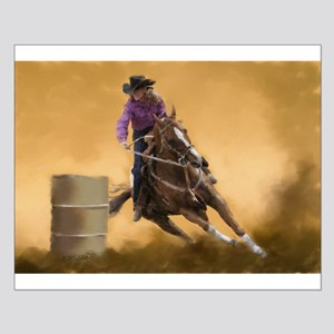Barrel Racing Small Poster