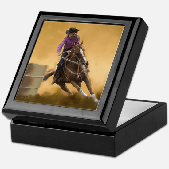 Barrel Racing Keepsake Box
