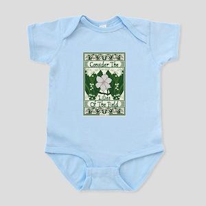 Consider The Lilies Infant Bodysuit