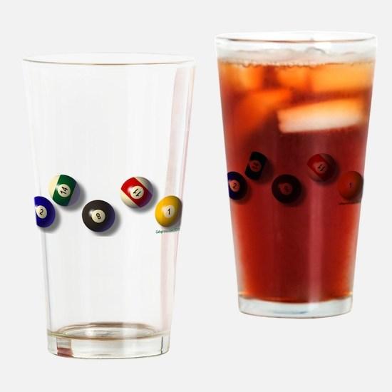 Billiard Balls Drinking Glass