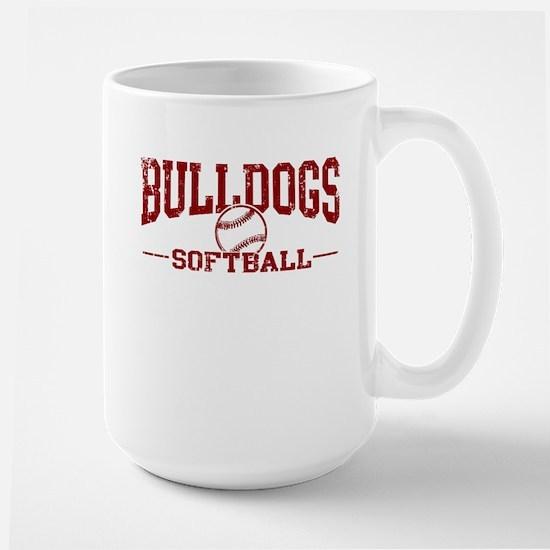 Bulldogs Softball Large Mug